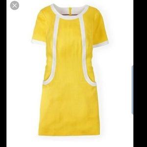 Boden Yellow Bright Helen Chino Day Dress sz 16